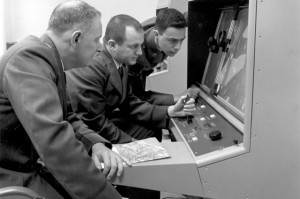 The American Strategic Air Command reviewing satellite imagery during the Cuban missile crisis. Photo credit: http://goo.gl/a59Id