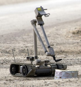 The research subjects in Carpenters study operate Explosive Ordinance Disposal robots. U.S. Navy photo by Journalist 1st Class Jeremy L. Wood