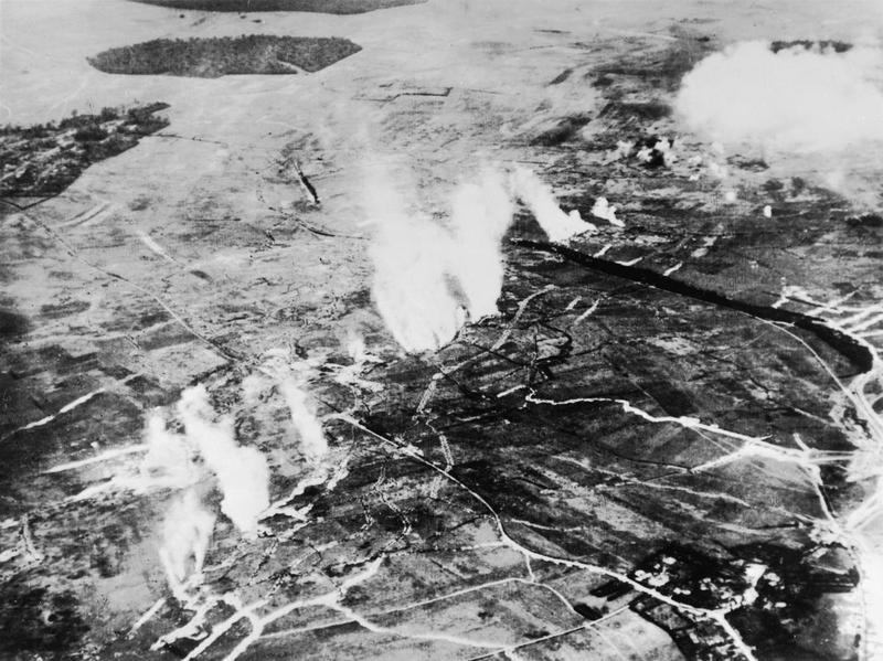 A British gas attack in progress in June 1916 before the Battle of the Somme. Credit: Imperial War Museum