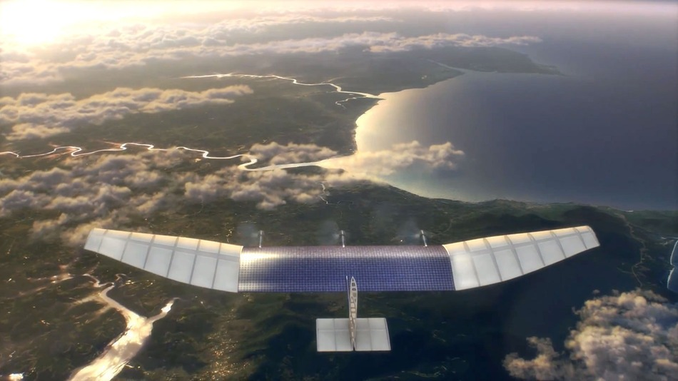 A still from a video at Internet.org demonstrating how Facebook plans to deliver Internet access with drones. Source: Internet.org