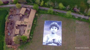 A giant portrait of an young, unnamed victim of a drone strike was unveiled in Pakistan this week. Credit: from notabugsplat.com