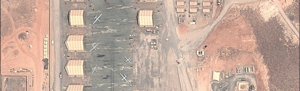 Drones at Chabelley Airfield in Djibouti. Credit: OSIMINT
