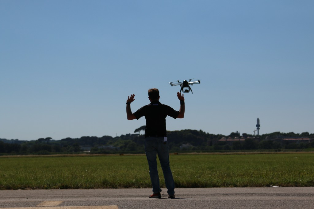 A flight demonstration at Roma Drone 2015. Credit: Dan Gettinger