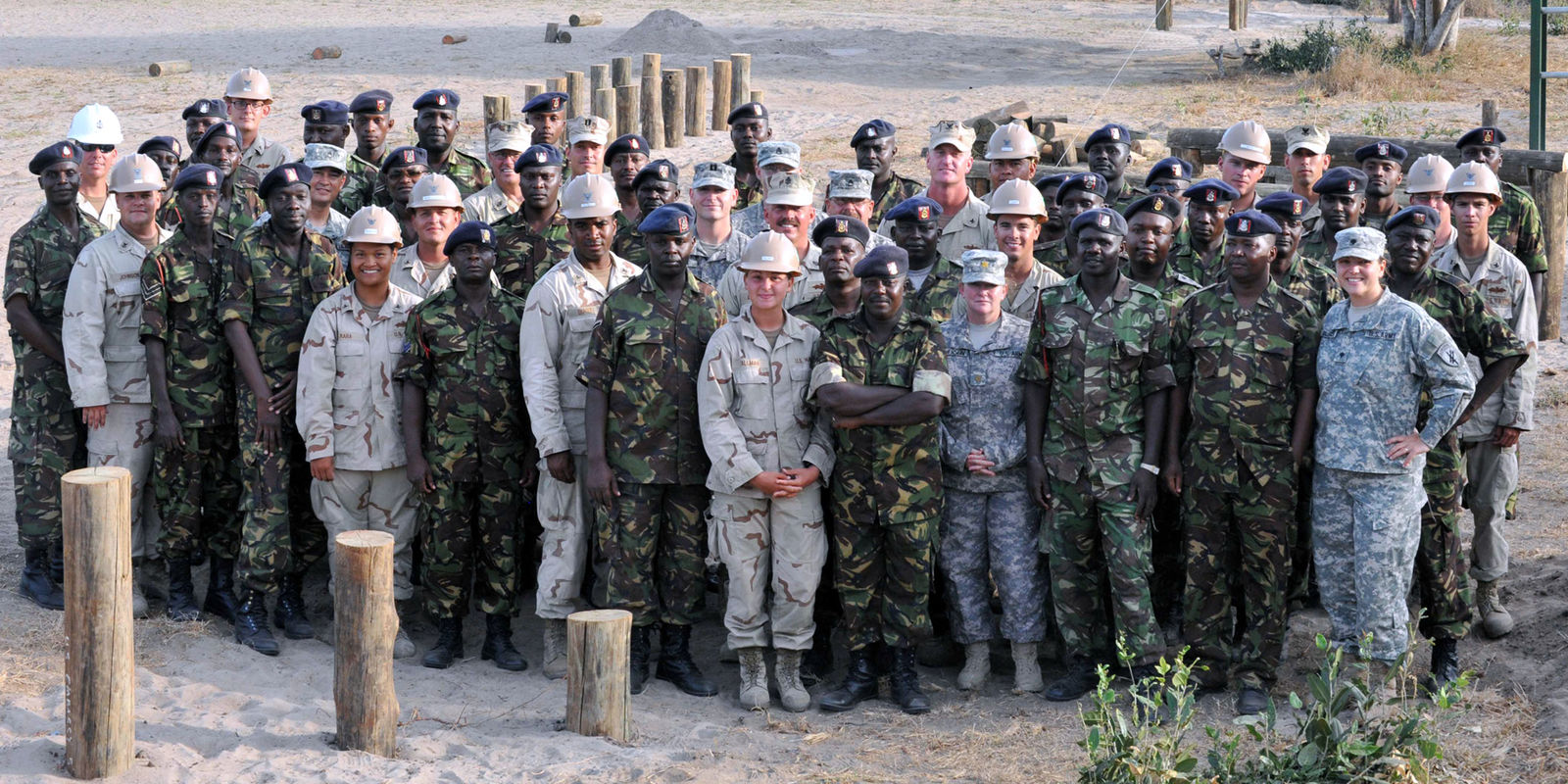 American and Kenyan engineers at Manda Bay in Kenya in 2009. Credit: U.S. Army