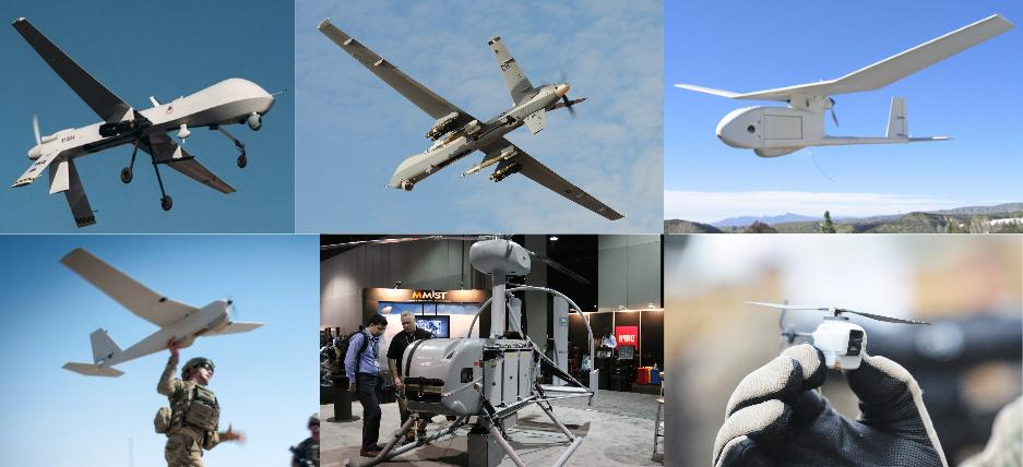 Some of the drones flown by U.S. special forces.