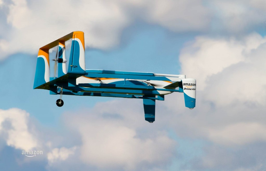 The Amazon Prime Air hybrid drone that was previewed on Sunday. Credit: Amazon. Via: Gizmag.