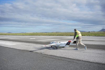 A Seahunter UAV undergoing tests as part of Unmanned Warrior 2016 in the U.K. Credit: U.S. Navy