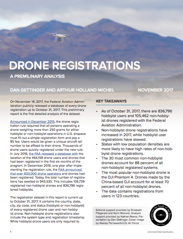 Drone Registrations – Center for the Study of the Drone
